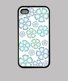 flores azules iphone 4