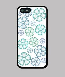 flores azules iphone 5