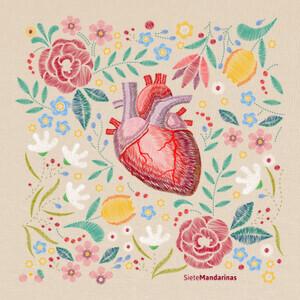 Camisetas Flores corazón