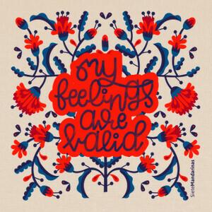 Camisetas Flores letras rojas