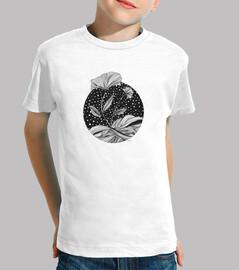 Flower In The Moon Kids T-Shirt
