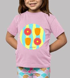 Flower power: camiseta niño o niña