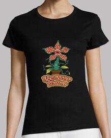 flower power demogorgon camisa para mujer