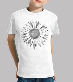 flower sunflower black line / flowers s