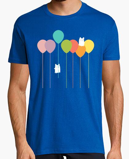 Camiseta Fluffy bunnies and the rainbow balloons