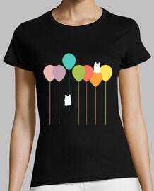Fluffy bunnies and the rainbow balloons
