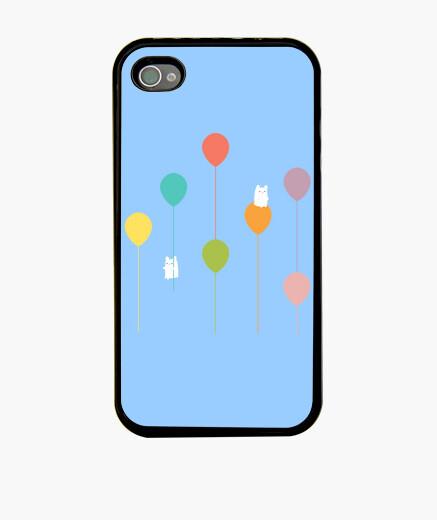 Funda iPhone Fluffy bunnies and the rainbow balloons