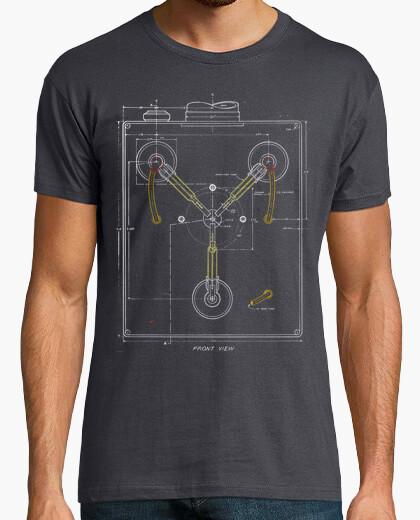 Camiseta Flux Capacitor Blueprint Color