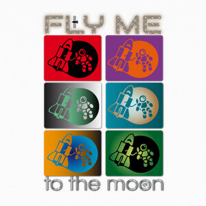 Camisetas fly me to the moon