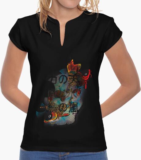 Camiseta Flying Carps chica negra