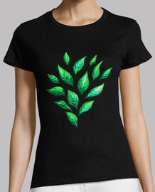foglie verdi astratte decorative