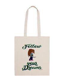 Follow your Dreams - Bandolera 100 algodón