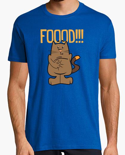 Camiseta Food. Cat. Hombre, manga corta, azul royal, calidad extra