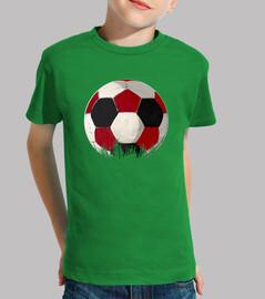 football à rojiblanco et noir