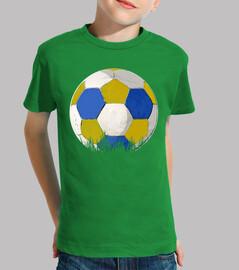 football bleu et jaune