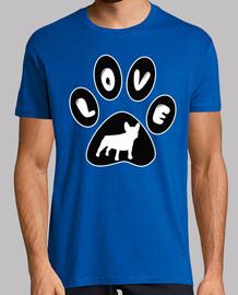 footprint love french bulldog