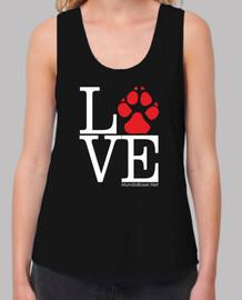 footprint love red dog