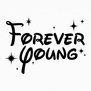 Forever Young Disney - Negro T-shirts