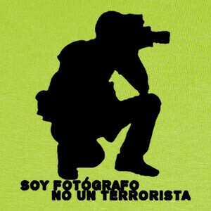 Camisetas Fotógrafo no terrorista