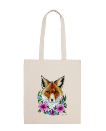 fox and flowers tattoo bag