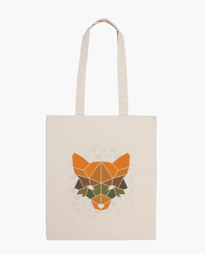 Fox colored polygonal shoulder bag