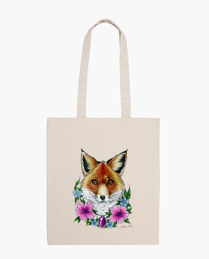 Borsa fox fiori tatuaggio bag