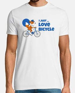fox montando bicicleta - me encanta la