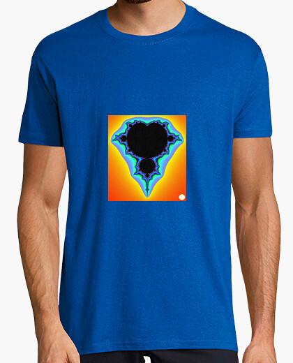 Camiseta fractal1/mangas cortas/amarilla