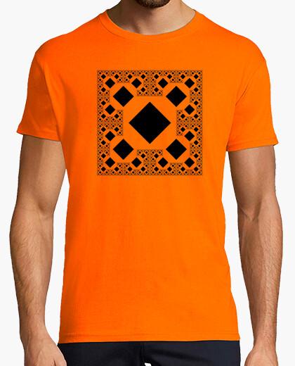 Camiseta Fractal Cuadrados