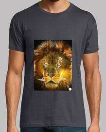fractal león/mangas cortas/gris