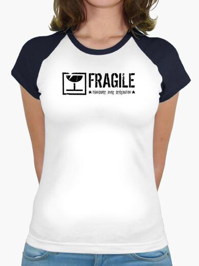 Fragile-handle-with-caution-black t-shirt