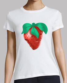 fraise - femme, manches courtes, blanc, qualité supérieure