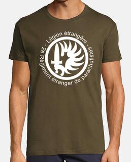 français  tee shirt  parachutiste 2erep. mod.1