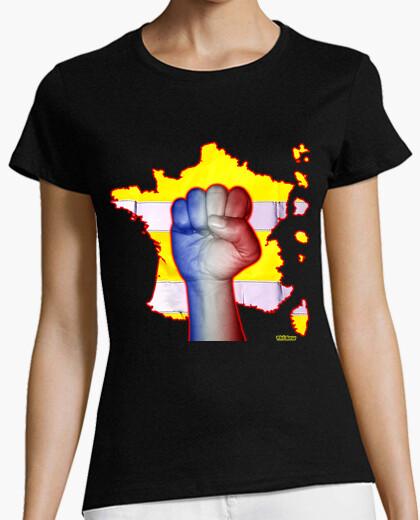 Tee-shirt france transparente sans texte femme