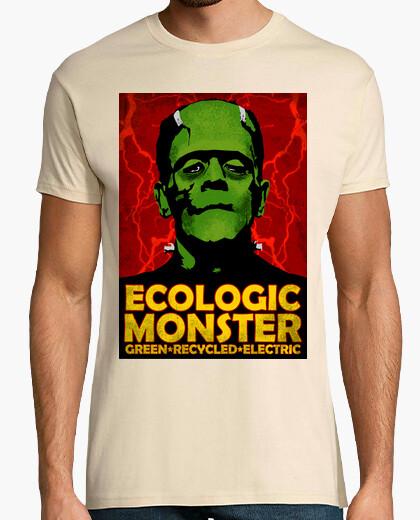 Camiseta Frankenstein reciclado. Ecologic Monster