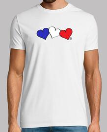 französisch flagge herzen