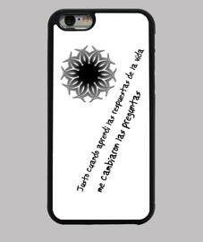 Frase chula, diseño abtracto / Funda iPhone 6, negra, frases chulas