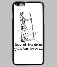 Frase mujer Funda iPhone 6 Plus, negra
