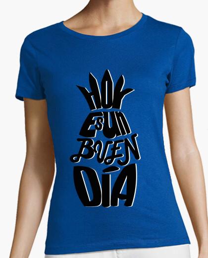 Camiseta Frase Piña en Negro / Mensaje Positivo