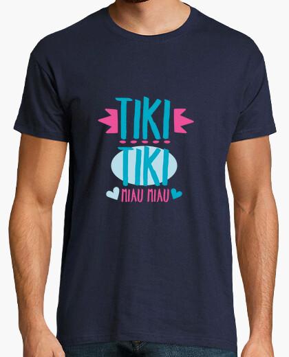 Camiseta Frase Tiki Tiki Miau Miau