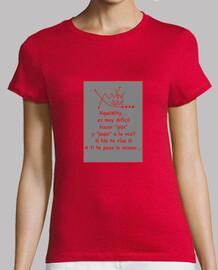 FRASE XQUEWHY Nº 73 FRONTAL Mujer, manga corta, roja, calidad premium