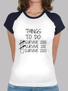 Frauen, Baseball T-Shirt, weiß-navy