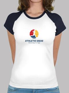Frauen, Baseball T-Shirt, weiß-royalblau
