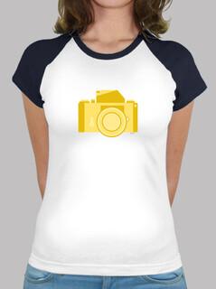 Frauen, Baseball T-Shirt, weiß-türkis