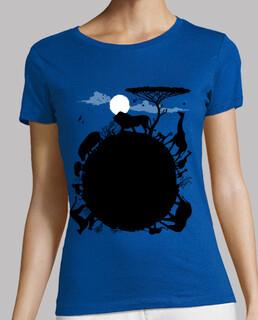 Frauen, T-Shirt, himmelblau, Premiumqualität