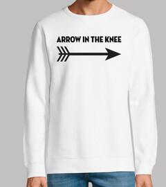 freccia nel ginocchio
