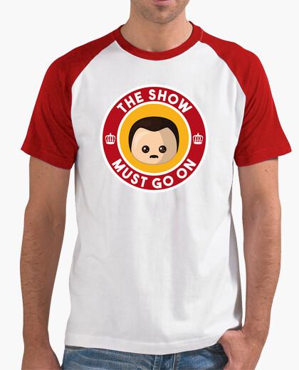 Camiseta Freddie Show Must Go On Beisbol Hombre
