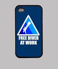 Free diver at work