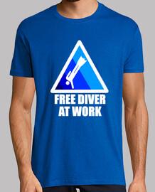 Free diver at work Azul