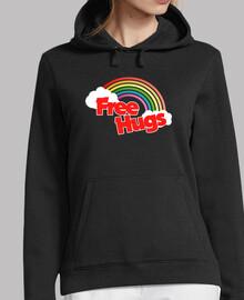 Free Hugs retro rainbow